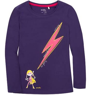 Endo - Bluzka z długim rękawem  dla dziewczynki 3-8 lat D72G067_1