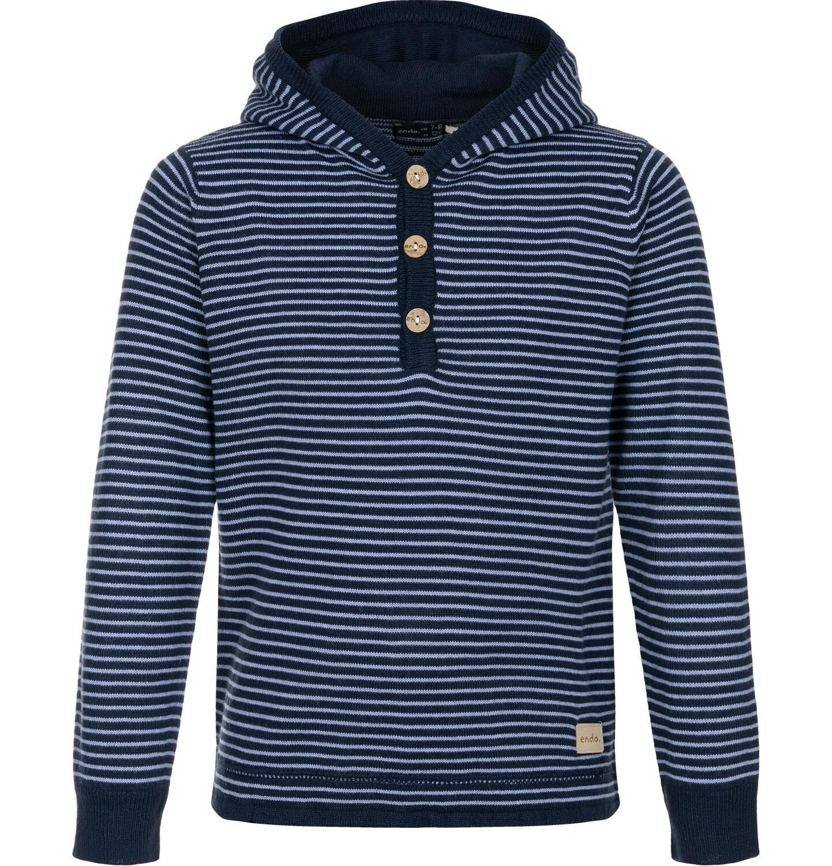 Endo - Sweter z kapturem dla chłopca 0-3 lata N82B008_1