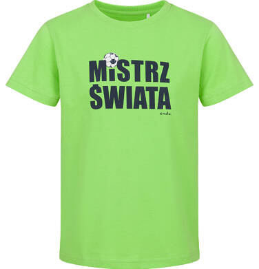 T-shirt z krótkim rękawem dla chłopca, mistrz świata, zielony, 2-8 lat C03G173_1