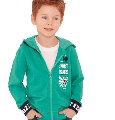 Endo - Rozpinana bluza z kapturem dla chłopca, sport rządzi, zielona, 2-8 lat C03C001_1