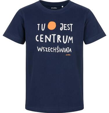 Endo - T-shirt z krótkim rękawem dla chłopca, centrum wszechświata, granatowy, 2-8 lat C03G174_1