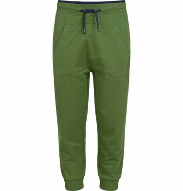 Spodnie dresowe dla chłopca, z kieszenią kangur, zielone, 9-13 lat C03K523_2