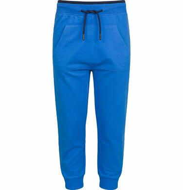 Spodnie dresowe dla chłopca, z kieszenią kangur, niebieskie, 9-13 lat C03K523_3