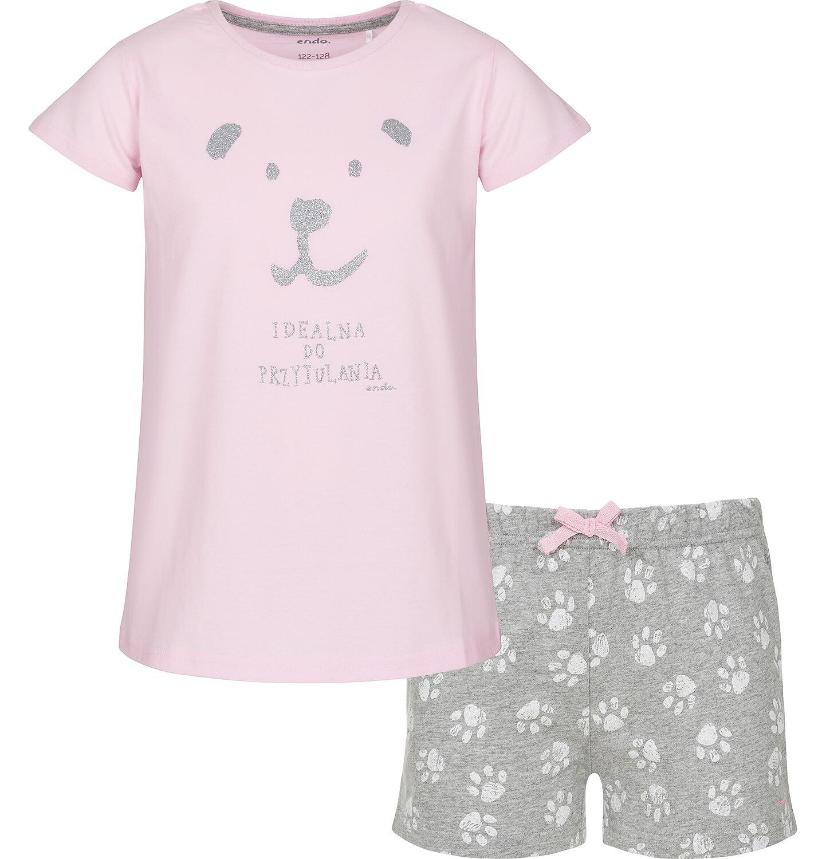 Endo - Piżama z krótkim rękawem dla dziewczynki 9-13 lat D91V502_1