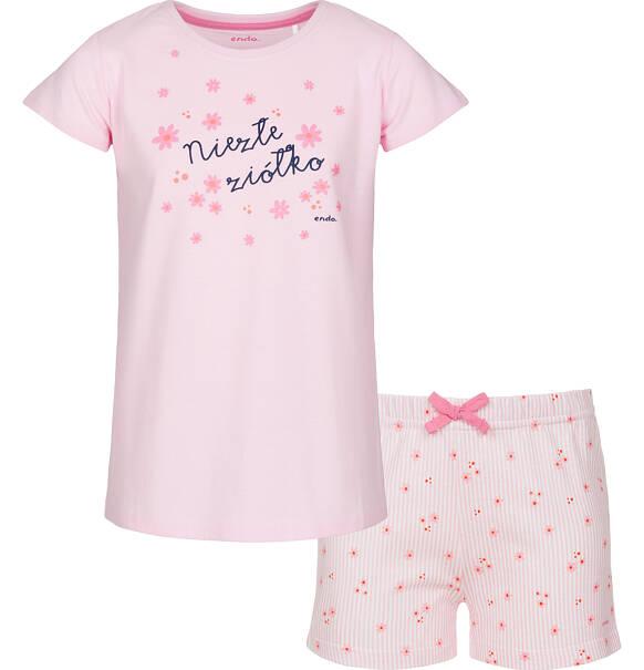 6b116809f6dc81 Piżama z krótkim rękawem dla dziewczynki 3-8 lat | Piżamy i | Endo
