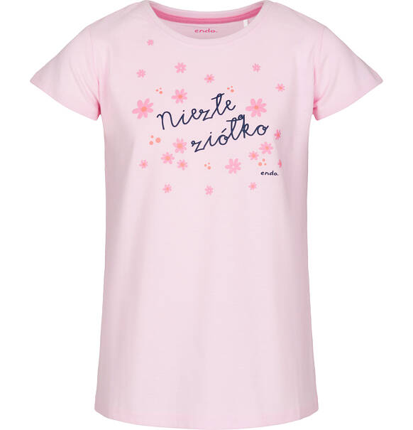 12c0cb3bfd5ac9 Endo - Piżama z krótkim rękawem dla dziewczynki 3-8 lat D91V003_1. ‹ ›