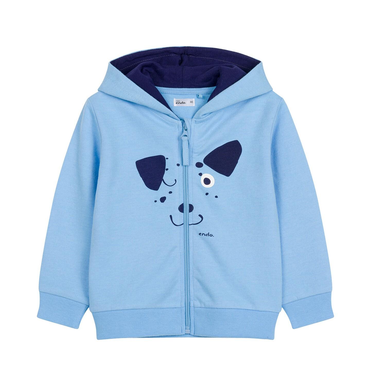 Endo - Bluza rozpinana z kapturem dla dziecka do 2 lat, z psem i uszami N03C010_1