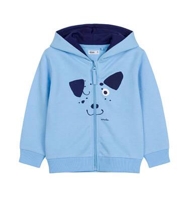 Endo - Bluza rozpinana z kapturem dla dziecka do 2 lat, z psem i uszami N03C010_1 12