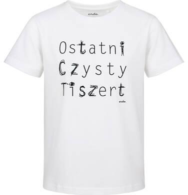 Endo - T-shirt z krótkim rękawem dla chłopca, ostatni czysty, biały, 9-13 lat C03G677_1