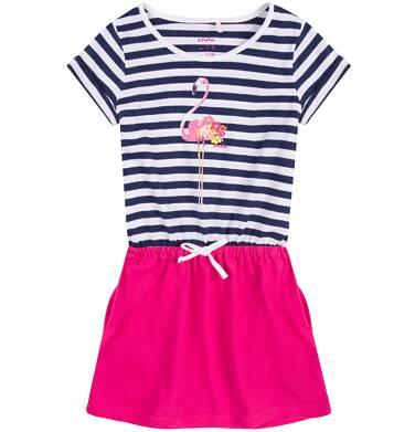 Endo - Sukienka z kieszeniami i troczkiem dla dziewczynki 4-8 lat D71H049_1