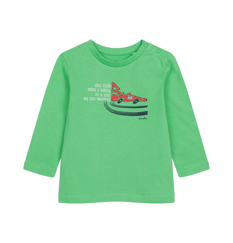 Endo - T-shirt z długim rękawem dla dziecka do 2 lat, z samochodem N04G042_1