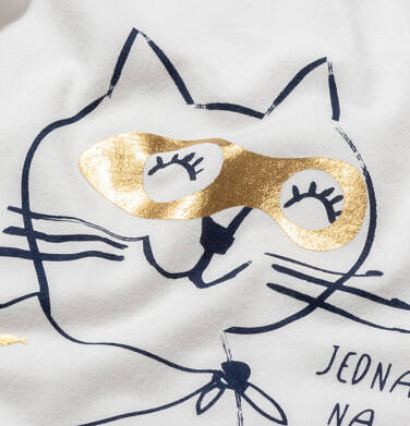 Endo - Piżama z krótkim rękawem dla dziewczynki, z kotem bohaterem, 9-13 lat D05V019_1 1
