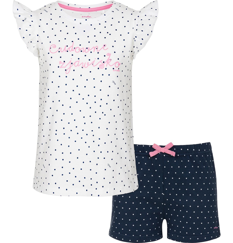 Endo - Piżama z krótkim rękawem dla dziewczynki 3-8 lat D91V004_1