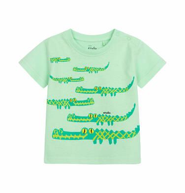 Endo - T-shirt z krótkim rękawem dla dziecka do 2 lat, z motywem krokodyla, jasnozielony N03G006_1 30