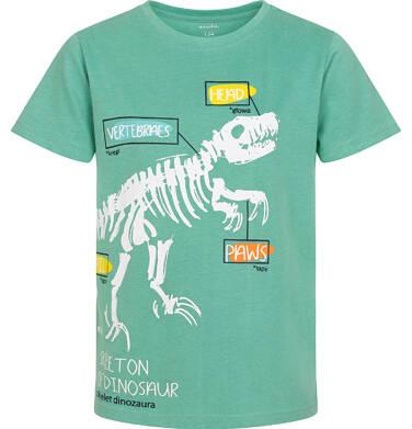 Endo - T-shirt z krótkim rękawem dla chłopca, ze szkieletem dinozaura, zielony, 9-13 lat C06G005_2 8