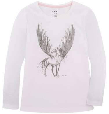 Endo - Bluzka z długim rękawem  dla dziewczynki 3-8 lat D72G001_1
