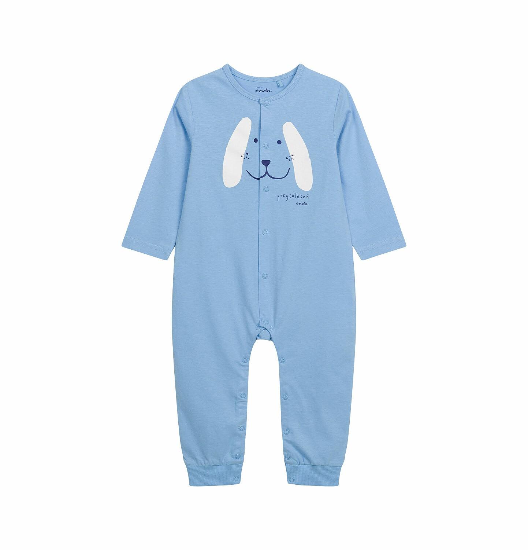 Endo - Pajac dla dziecka do 2 lat, z pieskiem, niebieski N03N001_1
