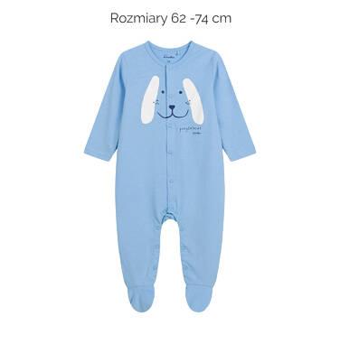 Endo - Pajac dla dziecka do 2 lat, z pieskiem, niebieski N03N001_1,2