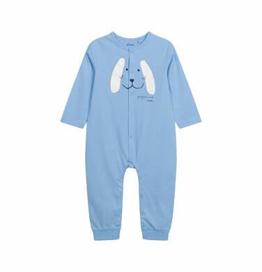 Pajac dla dziecka do 2 lat, z pieskiem, niebieski N03N001_1