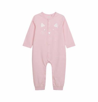 Endo - Pajac dla dziecka do 2 lat, z kotem, różowy N03N005_1 13