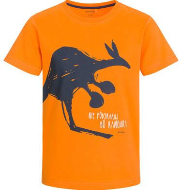 Endo - T-shirt z krótkim rękawem dla chłopca, z kangurem, pomarańczowy, 2-8 lat C03G027_1 26