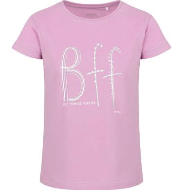 Endo - Bluzka z krótkim rękawem dla dziewczynki, różowa, 2-8 lat D03G171_1 109