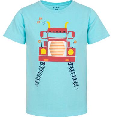 Endo - T-shirt z krótkim rękawem dla chłopca, z ciężarówką, niebieski, 2-8 lat C06G022_1 3