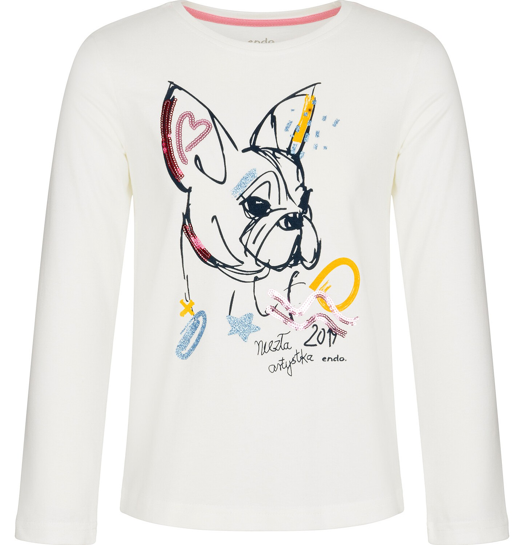 Endo - Bluzka z długim rękawem dla dziewczynki 3-8 lat D92G032_1