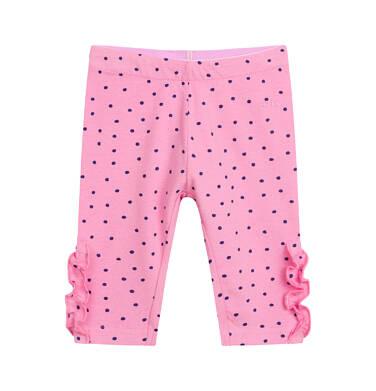 Endo - Legginsy 3/4 dla dziecka do 2 lat, w kropki, różowe N03K013_1 12