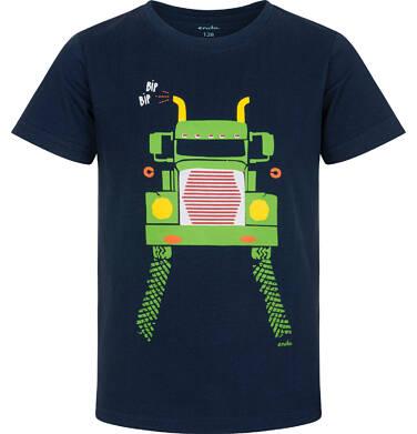 Endo - T-shirt z krótkim rękawem dla chłopca, z ciężarówką, granatowy, 2-8 lat C06G022_2 23