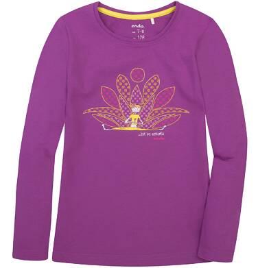 Endo - Bluzka z długim rękawem  dla dziewczynki 3-8 lat D72G086_2