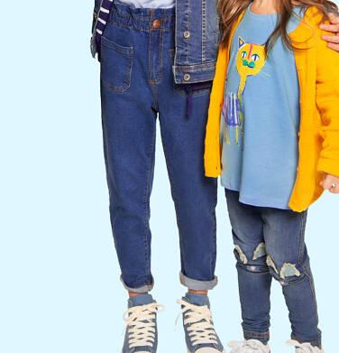 Spodnie jeansowe dla dziewczynki, 2-8 lat D04K051_1