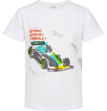 Endo - T-shirt z krótkim rękawem dla chłopca, z bolidem F1, biały, 3-8 lat C06G024_2 18
