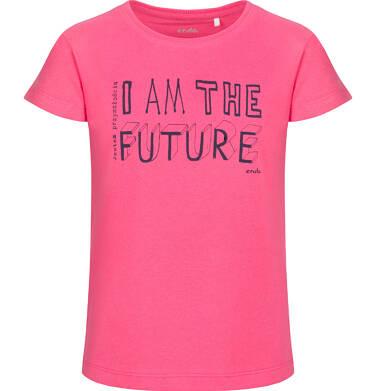 Endo - Bluzka z krótkim rękawem dla dziewczynki, różowa, 2-8 lat D03G173_1 303