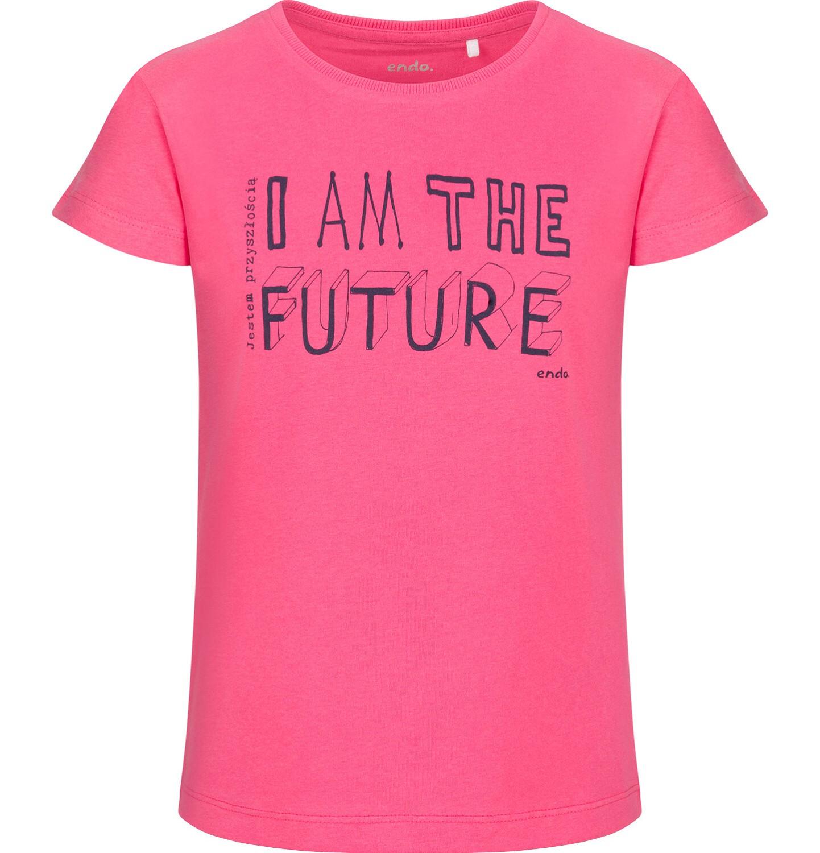 Endo - Bluzka z krótkim rękawem dla dziewczynki, różowa, 9-13 lat D03G673_1
