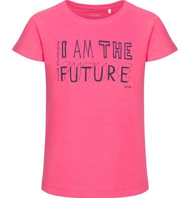 Endo - Bluzka z krótkim rękawem dla dziewczynki, różowa, 9-13 lat D03G673_1 57