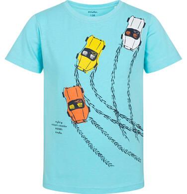 Endo - T-shirt z krótkim rękawem dla chłopca, z samochodami wyścigowymi, niebieski, 2-8 lat C06G027_2 15