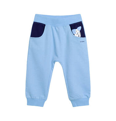 Endo - Spodnie dresowe dla dziecka do 2 lat, z motywem psa - przytulaska, niebieskie N03K021_1