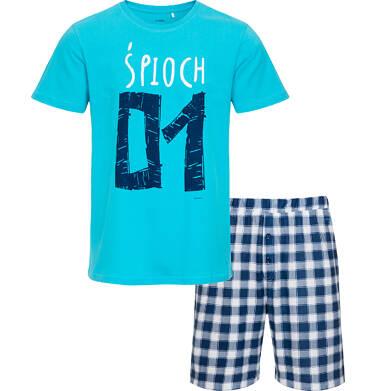 Endo - Piżama męska z krótkim rękawem, niebieska Q05V011_1 29