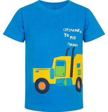 Endo - T-shirt z krótkim rękawem dla chłopca, z ciężarówką, niebieski, 2-8 lat C06G031_1 24