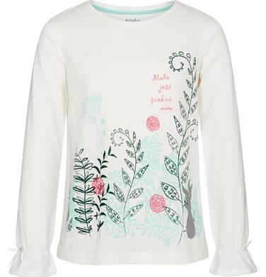 Endo - Bluzka z długim rękawem dla dziewczynki, małe jest piękne, złamana biel, 9-13 lat D92G602_1 282
