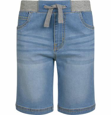 Endo - Krótkie spodenki jeansowe dla chłopca, z kontrastowym ściągaczem, 9-13 lat C03K532_1