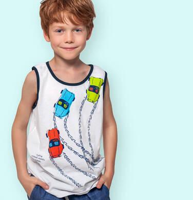 Endo - Koszulka bez rękawów dla chłopca, z samochodami wyścigowymi, biała, 3-8 lat C06G033_1 16