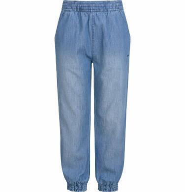Endo - Spodnie jeansowe dla dziewczynki, luźny krój, z gumką w pasie i ściągaczami, 2-8 lat D03K051_1