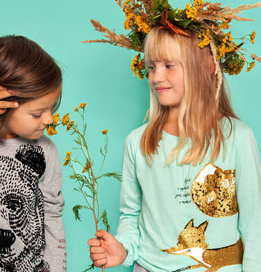 Endo - Bluzka z długim rękawem dla dziewczynki 3-8 lat D92G103_2