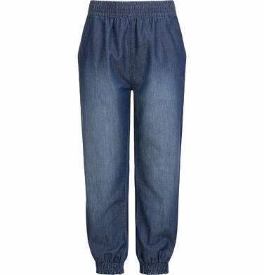 Endo - Spodnie jeansowe dla dziewczynki, luźny krój, z gumką w pasie i ściągaczami, 2-8 lat D03K051_2 7