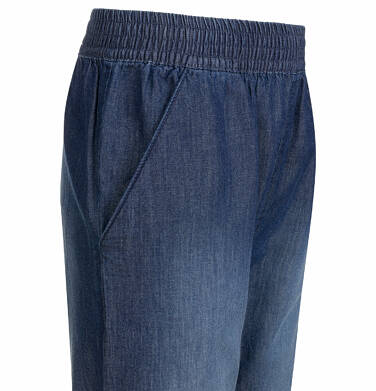 Endo - Spodnie jeansowe dla dziewczynki, luźny krój, z gumką w pasie i ściągaczami, 2-8 lat D03K051_2,2