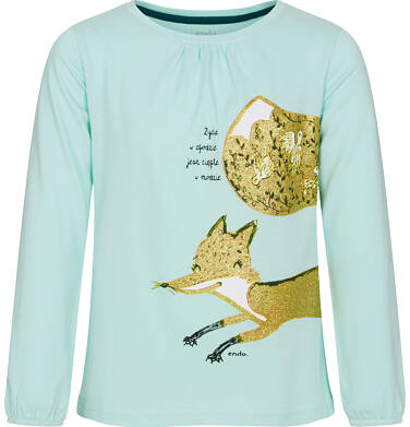 Endo - Bluzka z długim rękawem dla dziewczynki 9-13 lat D92G603_2