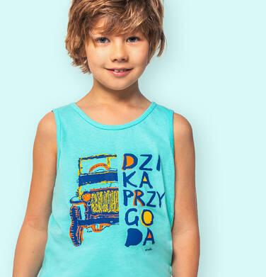 Endo - Koszulka bez rękawów dla chłopca, z terenówką, niebieska, 9-13 lat C06G040_1 241
