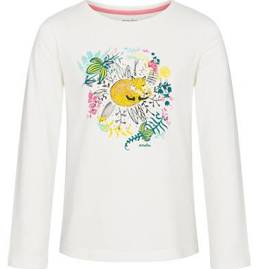Endo - Bluzka z długim rękawem dla dziewczynki 3-8 lat D92G104_1